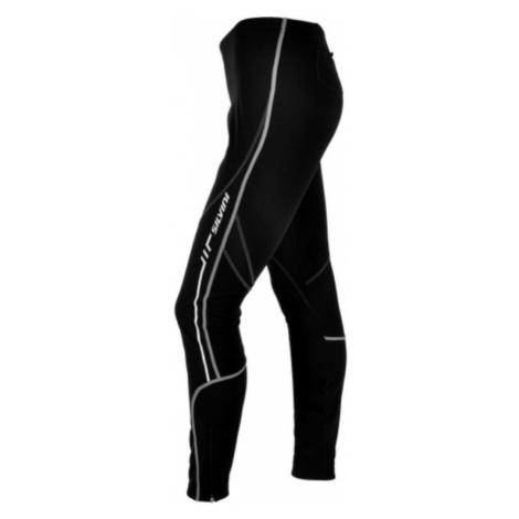 Damen elastische warm Hose mit Fahrradeinlage Silvini MOVENZA WP1119P black