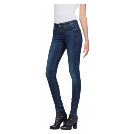 G-Star Damen Jeans Midge Zip Mid Waist - Skinny Fit - Blau - Dark Aged G-Star Raw