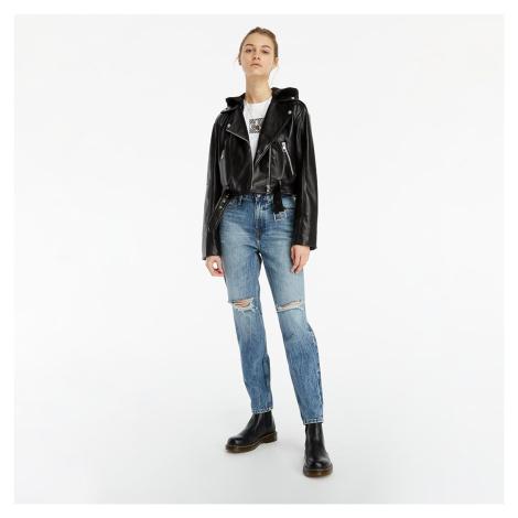Calvin Klein Jeans Biker Pu Hooded Jacket Ck Black