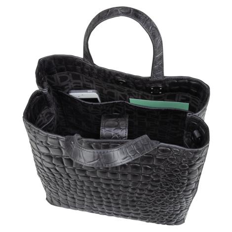 Liebeskind Berlin Handtasche Paperbag 20 Croco Black (15.8 Liter)