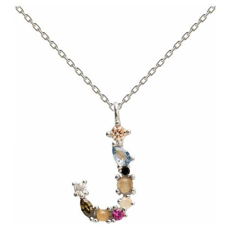 P D Paola CO02-105-U Damen-Halskette Buchstabe J Silber