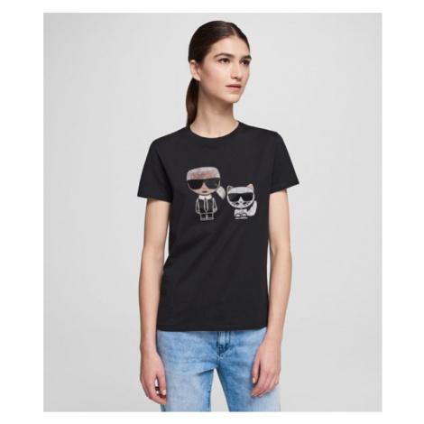 Ikonik T-Shirt mit Strassbesatz Karl Lagerfeld