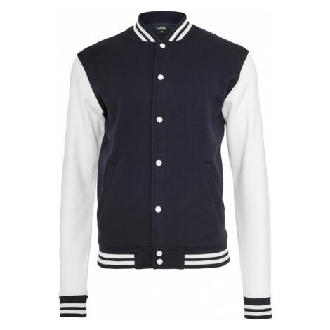 Urban Classics 2-Tone College Sweatjacket TB207 Navy White