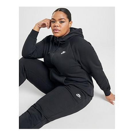 Nike Essential Full Zip Plus Size Hoodie Damen - Black - Damen, Black