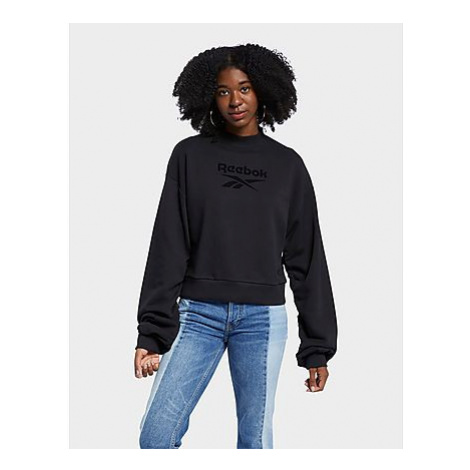 Reebok reebok classics mock neck sweatshirt - Black - Damen, Black