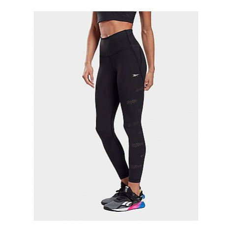 Reebok high-rise lux perform perforated leggings - Black - Damen, Black