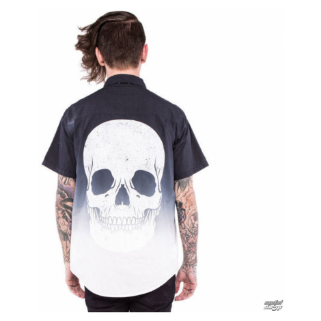 Männer Hemd IRON FIST - Death Breath - Dip Dyed - Black/White - IFM004003 XXL