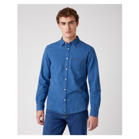 Wrangler Hemd Blau