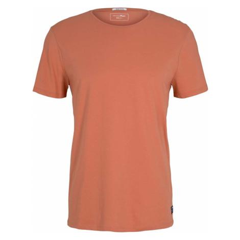 TOM TAILOR DENIM Herren Basic T-Shirt mit Bio-Baumwolle , orange