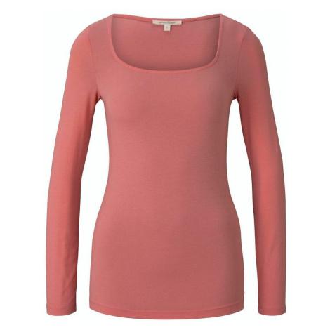 Tom Tailor Shirt mit Carree-Ausschnitt rosa
