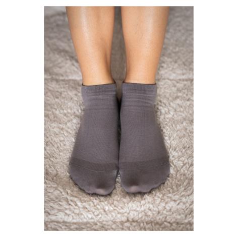Barfuß-Socken - grau 43-46