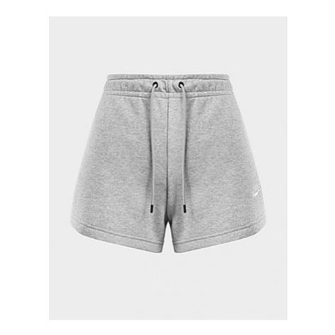 Nike Essential Shorts Damen - Dark Grey Heather/Matte Silver/White - Damen, Dark Grey Heather/Ma