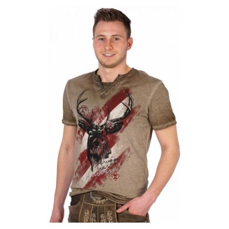 Trachten T-Shirt FERDI Austria braun