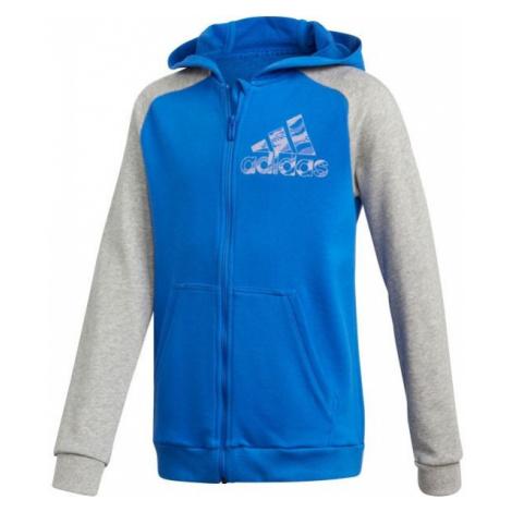 adidas COMMERCIAL PACK FULL ZIP HOODIE blau - Hoodie für Jungs