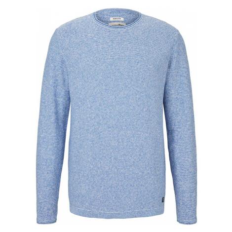 TOM TAILOR DENIM Herren melierter Pullover mit Bio-Baumwolle , blau