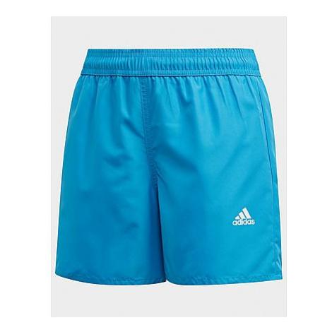 Adidas Classic Badge of Sport Badeshorts - Shock Cyan, Shock Cyan