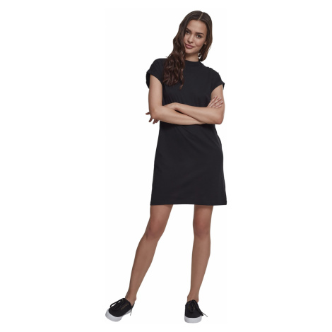 Urban Classics Kleid Damen LADIES TURTLE EXTENDED SHOULDER DRESS TB1910 Schwarz Black
