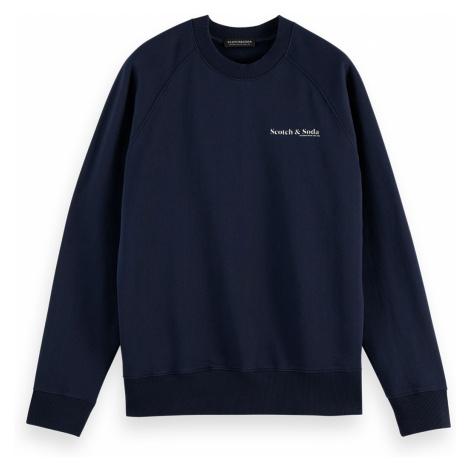 Scotch & Soda Herren Sweater CLASSIC CREWNECK 160812 Dunkelblau 0002
