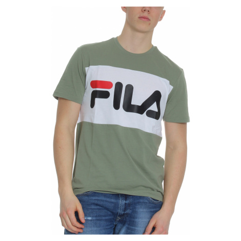 Fila T-Shirt Herren DAY TEE 681244 Mehrfarbig A439 Sea Spray-Bright White