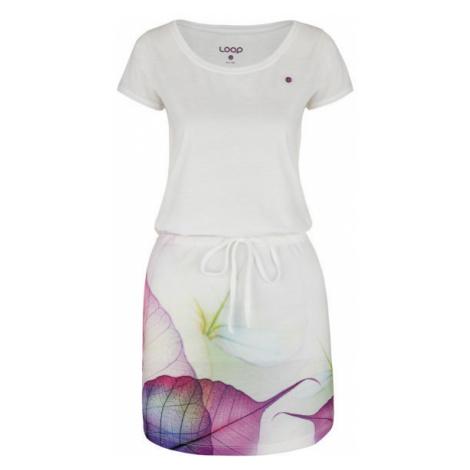 Loap ALYSA weiß - Sommerkleid