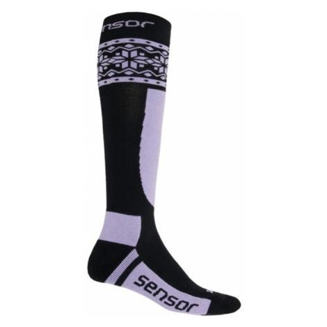 Socken Sensor THERMOSNOW NORWEGEN schwarz/lila 17200090