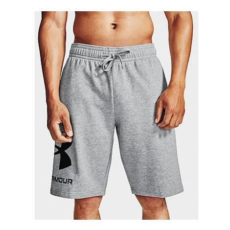 Under Armour Rival Fleece Big Logo Shorts - Mod Gray Light Heather - Herren, Mod Gray Light Heat