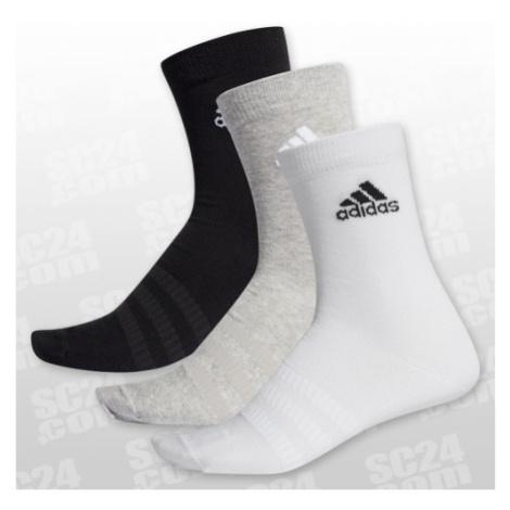 Adidas Light Crew Socks 3Pack weiss/grau Größe XL