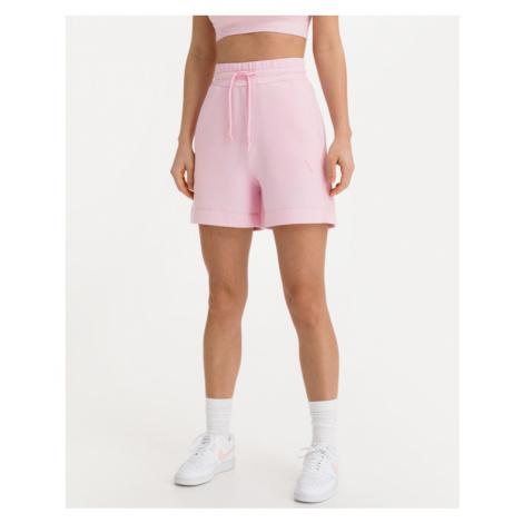 Guess Triangle Logo Shorts Rosa