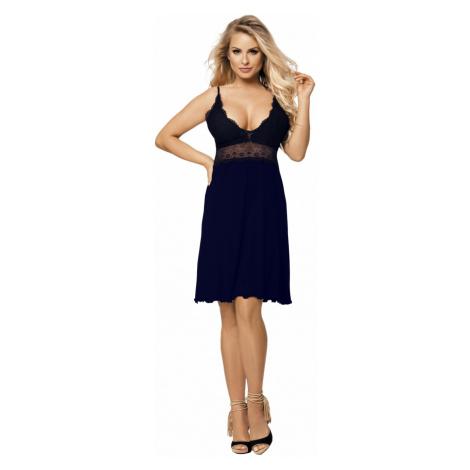 Luxuriöse Nachthemden für Damen Cindy dark blue DKaren