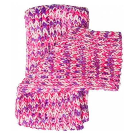 Lewro BIBURELA violett - Winterschal für Mädchen