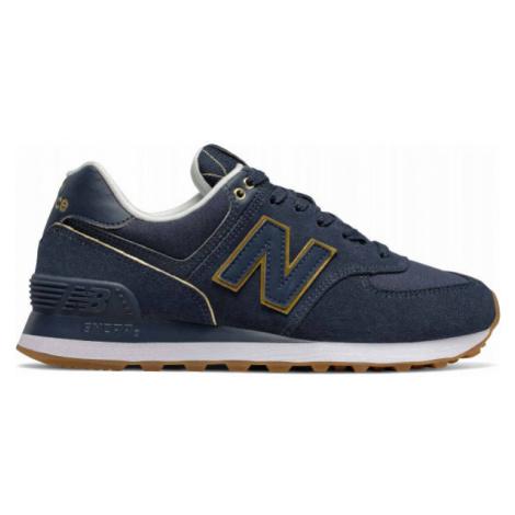 New Balance WL574SOC dunkelblau - Damen Sneaker