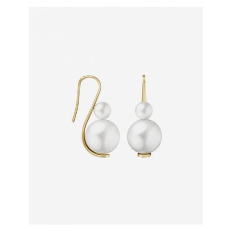 Calvin Klein Jazzy Ohrringe Weiß Gold