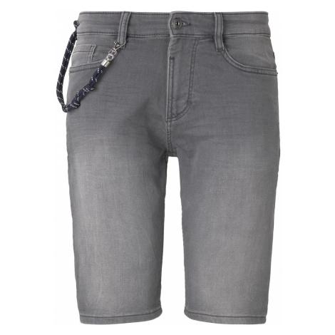 TOM TAILOR Herren Sweat Jeans-Shorts, grau