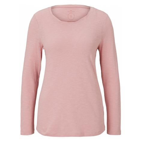 TOM TAILOR Damen Langarmshirt aus Organic Cotton, rosa