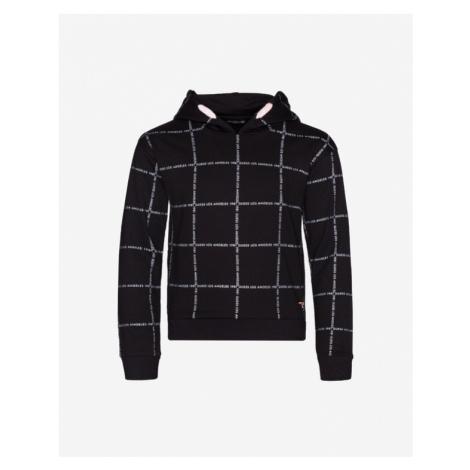 Guess All Over Logo Sweatshirt Kinder Schwarz