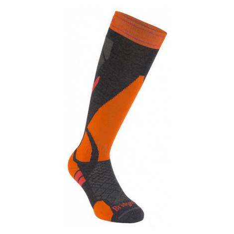 Socken Bridgedale Ski Lightweight graphite/orange/135