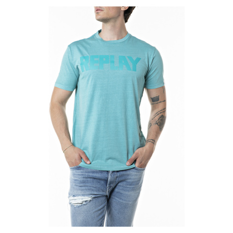 Replay Herren Rundhals T-Shirt Garment Dyed