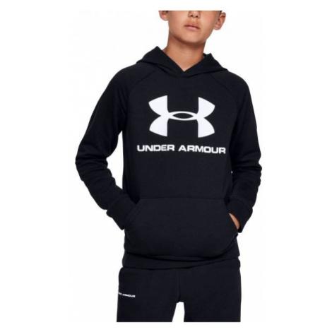 Under Armour RIVAL LOGO HOODY schwarz - Sweatshirt für Jungen