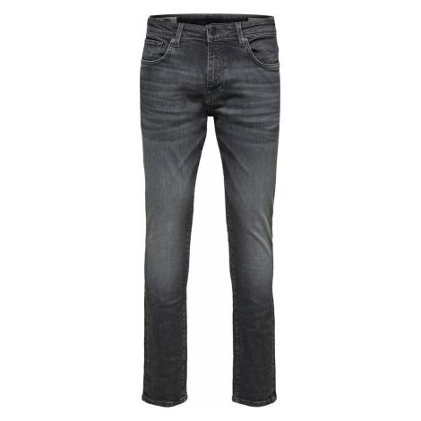 SELECTED 6213 Super Stretch - Slim Fit Jeans Herren Grau
