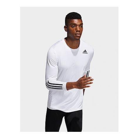 Adidas Techfit 3-Streifen Fitted Longsleeve - White - Herren, White