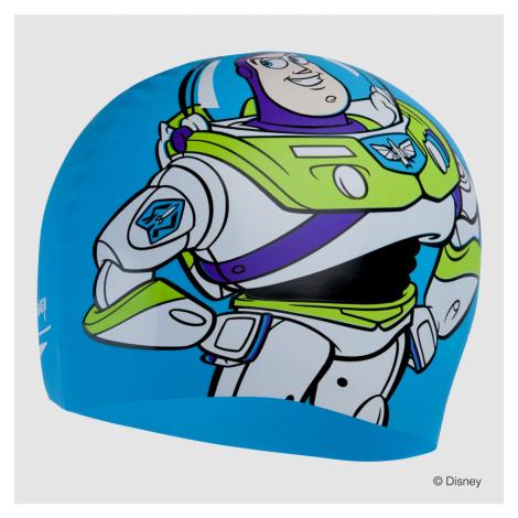 Speedo Disney Slogan Print Cap Buzz Toy Story, Blau/Grün/Lila