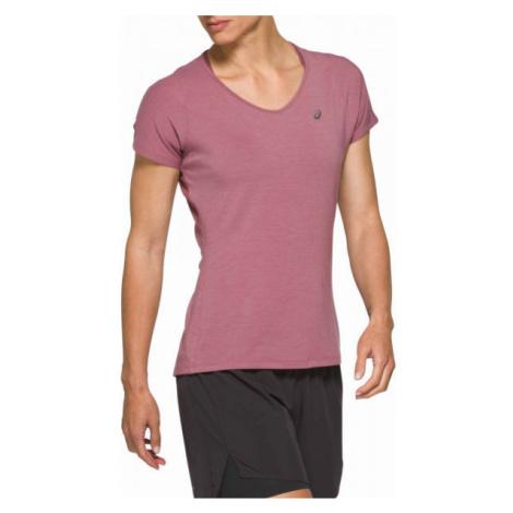 Asics V-NECK SS TOP rosa - Damen Sportshirt