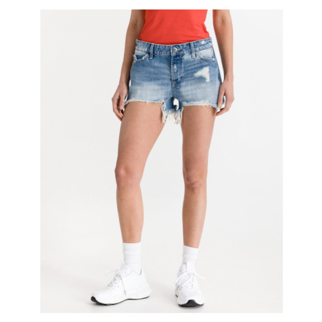 Guess Holly Zip Shorts Blau