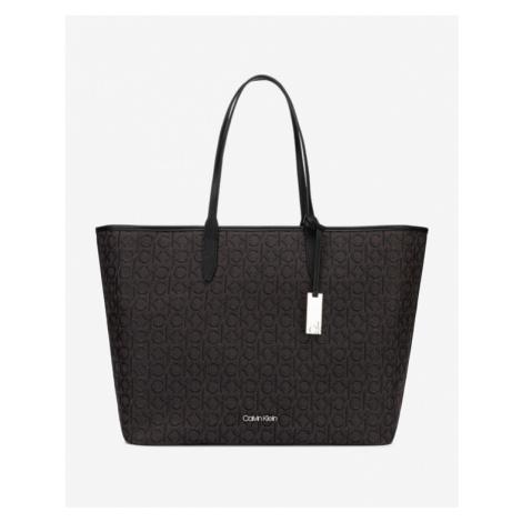 Calvin Klein Jacquard Shopper Handtasche Schwarz Braun