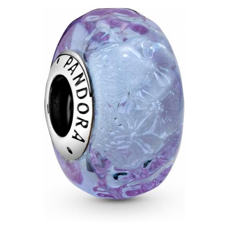 Pandora 798875C00 Silber Bead-Charm Welliges Lavendel Muranoglas