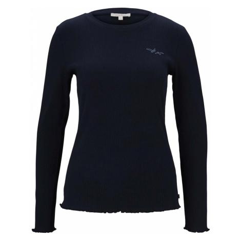 TOM TAILOR DENIM Damen Langarmshirt, blau