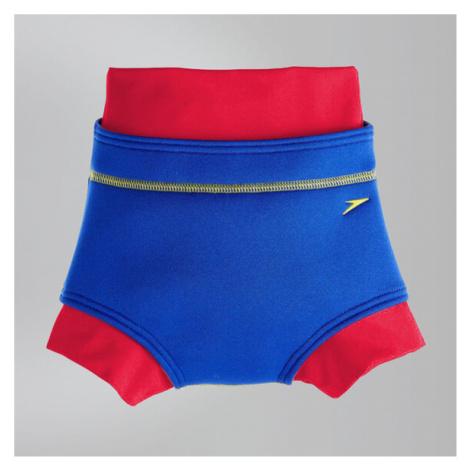Speedo Schwimmwindel-Badehose, Blau/Rot