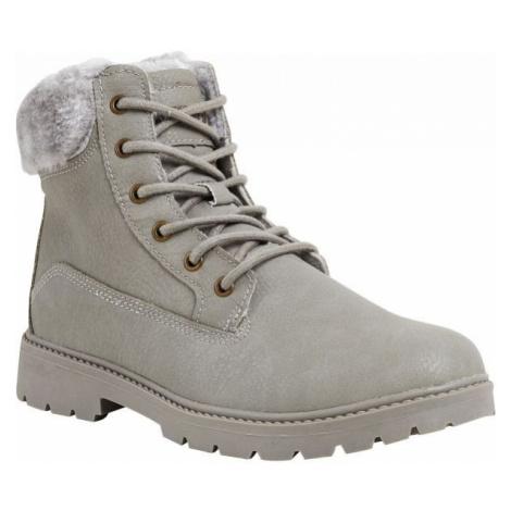 Graue worker boots für damen