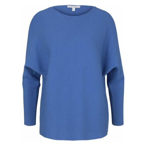TOM TAILOR DENIM Damen Pullover mit Fledermausärmeln, blau