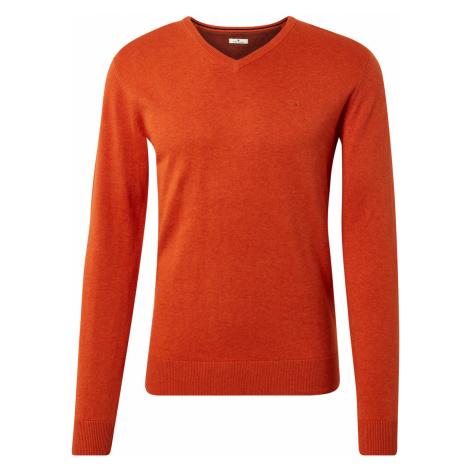 TOM TAILOR Herren Basic Strickpullover, orange, unifarben